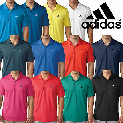 Adidas 2017 Mens Performance Tour Golf Sports Lightweight Polo Shirt