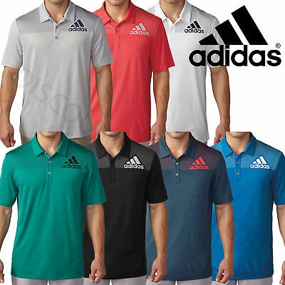 Adidas Golf 2016 Big Logo Dot Print Lightweight Mens Performance Polo Shirt