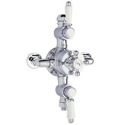 Hudson Reed Chrome Traditional Triple Exposed Thermostatic Shower Valve A3089E