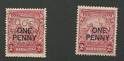 BARBADOS #209, 209b MINT & USED