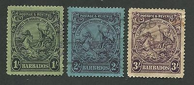 Barbados #176, 177, 179 Used F/vf