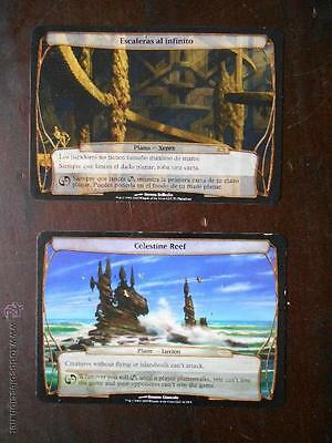 Mtg - Lote / Pack 2 Planechase Magic - Celestine Reef Y Escaleras Al Infinito