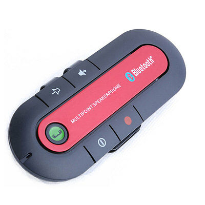 Wireless Bluetooth Hands Free Speaker Phone Charger Car Kit For Mobile Phone 2p