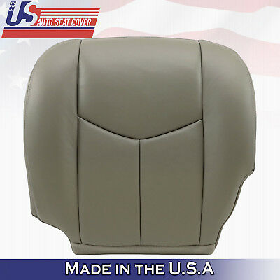 """2003 2004 2005 2006 GMC Yukon Driver Bottom Leather Seat Cover Pewter """"Gray"""""""