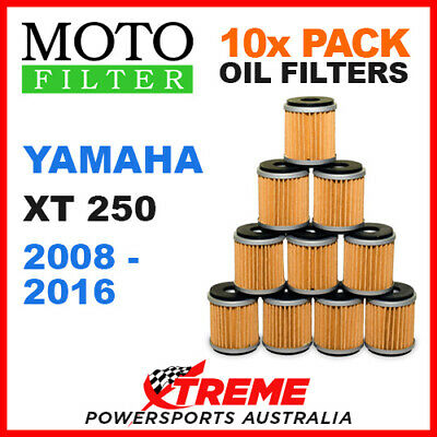 10 Pack Moto Mx Oil Filters Yamaha Xt250 Xt 250 2008-2016 Trail Bike Off Road