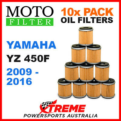 10 Pack Moto Mx Oil Filters Yamaha Yz450F Yzf450 Yz 450F 2009-2016 Dirt Bike