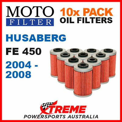 10 Pack Moto Mx Oil Filters Husaberg Fe450 450Fe Fe 450 2004-2008 Enduro Bike