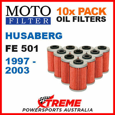 10 Pack Moto Mx Oil Filters Husaberg Fe501 501Fe Fe 501 1997-2003 Enduro Bike