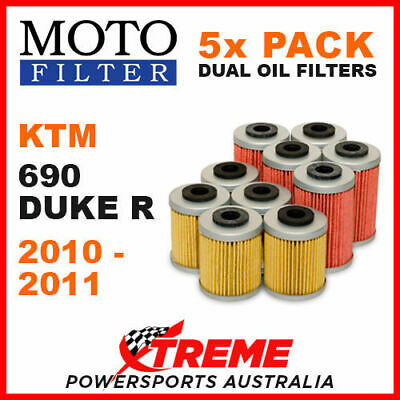 5 PACK MOTO MX OIL FILTERS KTM 690 DUKE R 690R DUKE 690cc 2010-2011 MOTORCYCLE