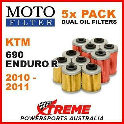 5 PACK MOTO MX OIL FILTERS KTM 690 ENDURO R 690R 690cc 2010-2011 TRAIL OFF ROAD