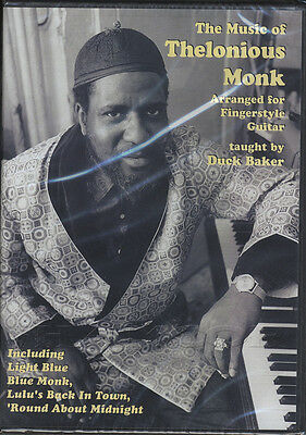 The Music of Thelonious Monk for Fingerstyle Guitar Tuition DVD by Duck Baker
