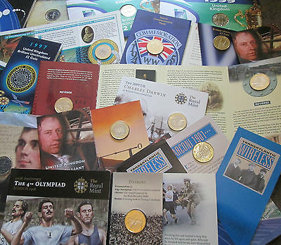 UK Royal Mint BU Brilliant Uncirculated £2 COIN PACKS 1986 - 2015 GREAT GIFT