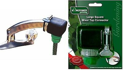 Large Square Mixer Tap Connector Kitchen To Garden Hose Pipe Adapter