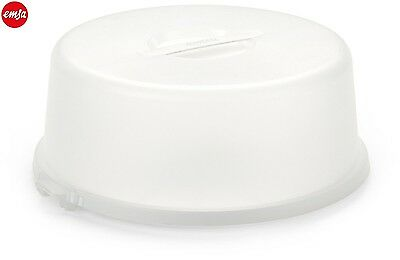 EMSA Basic Cake Butler in White 33cm With Snap Lid Function Storage New