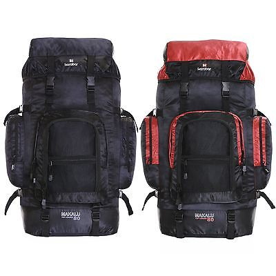 XL Extra Large 80L Travel Hiking Camping Festival Luggage Rucksack Backpack Bag