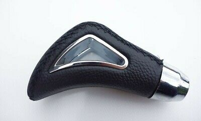 Mercedes Gear Shift Knob Black Leather Shifter Lever Stick Cover Black Car Auto