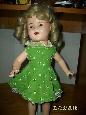 1934 Ideal Novelty Toy Corp 17 inch Shirley Temple Composition Doll