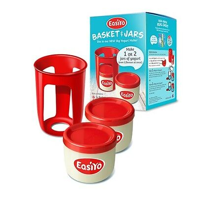 EasiYo's Basket and Jars - For New Red Yogurt Maker