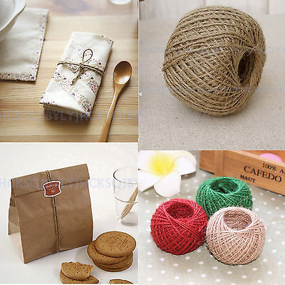 30M Colorful Jute Twine String DIY Bakers Shabby Style Rustic Shank Handmade