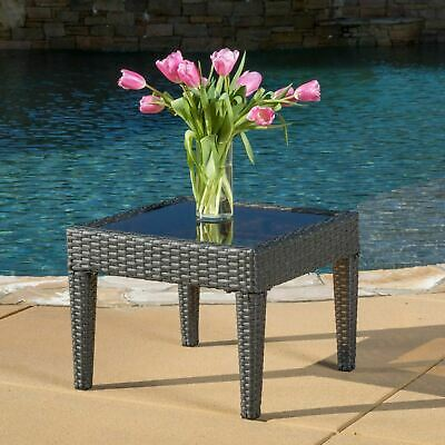 Incredible Jermaine Outdoor Grey Wicker Side Table 56 00 Picclick Pabps2019 Chair Design Images Pabps2019Com