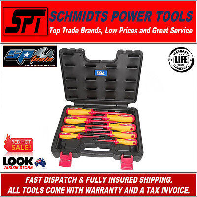 Sp Tools  Sp34042 1000V Insulated Electricians Screwdriver Set 8 Piece With Case