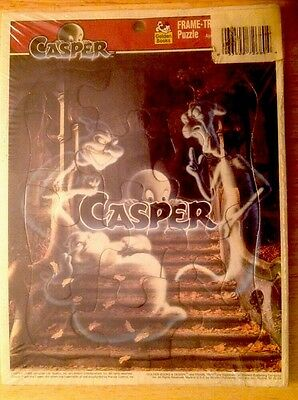 1995 Golden Books Casper The Friendly Ghost Tray Puzzle New Unopened