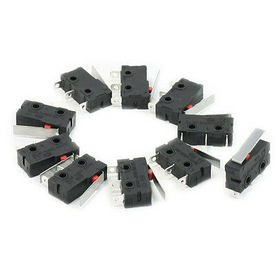 10 Pcs AC SPDT 1NO 1NC Short Straight Hinge Lever Mini Micro Switch CP