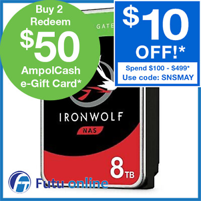 "8TB Seagate IronWolf NAS HDD 3.5"" SATA Internal Hard Drive 7200RPM 256MB Cache"