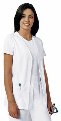 Cherokee Women's Soft Sleeveless Two Patch Pockets Button Front Scrub Vest. 1602