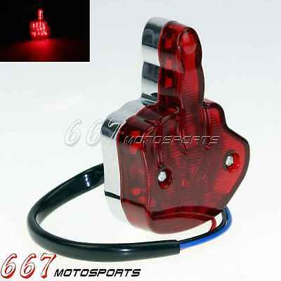 Red Len LED Motorcycle Brake Running License Plate Tail Light For Harley Chopper