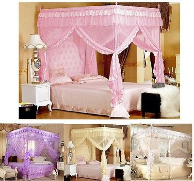 Four Corner Post Bed Canopy Mosquito Netting King Queen Double Single Sizes