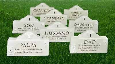 Memorial Plaque Grave Stone Ornament Butterfly Flower Loved One Special Missed