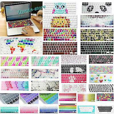 "Cool Prints Silicone Keyboard Cover Skin for New Macbook Air Pro 13 15 17""11 12"""