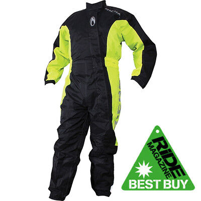 Richa Typhoon Rain Waterproof Motorcycle One Piece Suit Overall Black/Yellow