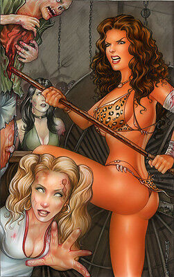 Zombie Attack! - Published Cavewoman Cover Painting by Monte Moore