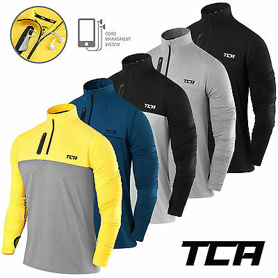 Men's TCA Long Sleeve Half-Zip Running Top Jacket Fusion Soft QuickDry Jersey
