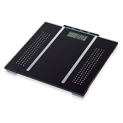 150Kg Black Electronic Digital Lcd Bmi Calorie & Body Fat Bathroom Weight Scale