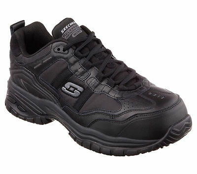 New 77013 Black Skechers SOFT STRIDE-GRINNELL Men's Shoes Composite Toe
