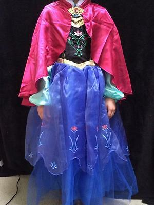 Disney Store NEW ANNA PRINCESS DRESS FROZEN GIRL PARTY FANCY costume 7/8 or 9/10