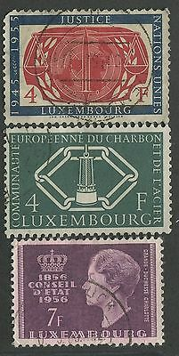 Luxembourg #308, 317, 323 Used