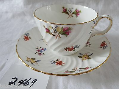 Vintage AYNSLEY English bone china Cup & Saucer GAIETY tiny floral pattern