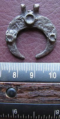 Authentic Ancient Lake Ladoga VIKING Artifact   Silver Temporal Ring J26