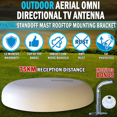 NEW 12V Directional TV Antenna Outdoor Aerial booster DAB UHF/VHF Caravan RV