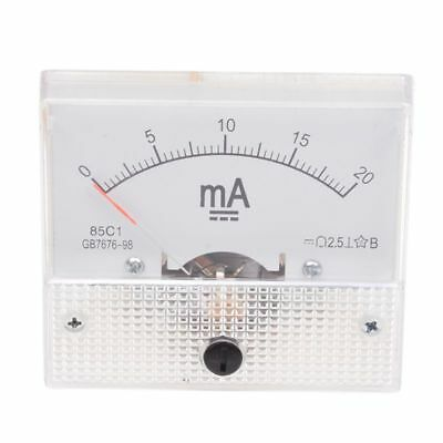 0-20mA Analog DC Current Panel Meter Ammeter 85C1-A CP