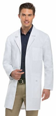 """Dickies Adult New Button Front Chest Pocket Down Back Belt 37"""" Lab Coat. 83404"""