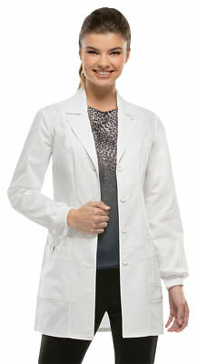 Dickies Women's Bungee Loop Long Sleeve Patch Pockets Medical Lab Coat. 85400