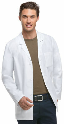 Dickies Men's New Long Sleeve Button Front Pocket Medical Lab Coat. 81404A