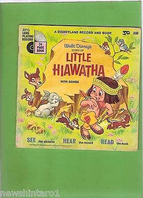 #d244.   1968  Disneyland Record & Book - Little  Hiawatha