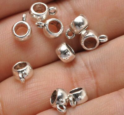 100pcs Tibetan Silver Charms Bail Connector Beads Connector Beads fittings E3393