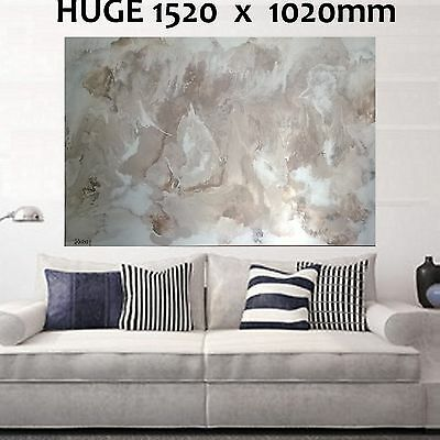 HUGE 1520x1020mm Brown Taupe wh Modern Hand Painted Abstract Canvas Painting Art